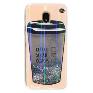 Husa Silicon Fashion Samsung Galaxy J3 2018,  Liquid Coffee