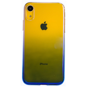 Husa Silicon Glow iPhone XR, Baseus Albastra