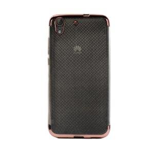Husa silicon Huawei Ascend Y6-2, Contakt Rama Roz