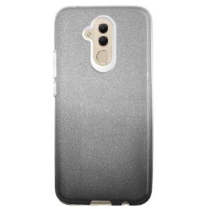 Husa Silicon Huawei Mate 20 Lite, Glitter Neagra