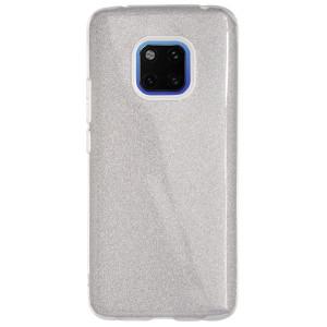 Husa Silicon Huawei Mate 20 Pro, Glitter Argintie