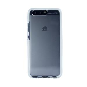 Husa silicon Huawei P10, Contakt Rama Alba