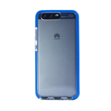 Husa silicon Huawei P10, Contakt Rama Albastra