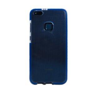 Husa silicon Huawei P10 Lite, Contakt Rama Albastra