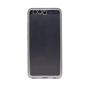 Husa silicon Huawei P10 Plus, Contakt Rama Argintie