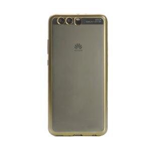 HUsa silicon Huawei P10 Plus, Contakt Rama Aurie