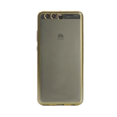 Husa silicon Huawei P10 Plus Contakt Rama Aurie