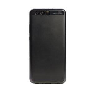 Husa silicon Huawei P10 Plus, Contakt Rama Neagra