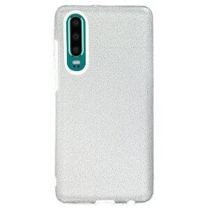 Husa Silicon Huawei P30 , Glitter Argintie