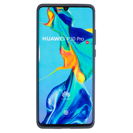 Husa Silicon Huawei P30 Pro, Carbon Albastru