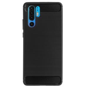 Husa Silicon Huawei P30 Pro, Carbon Negru
