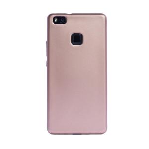 Husa silicon Huawei P9 Lite, Contakt Roz Gold