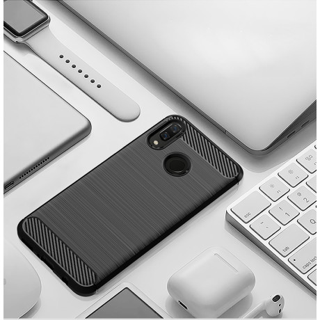 Husa Silicon Huawei Y9 2019, Negru Carbon