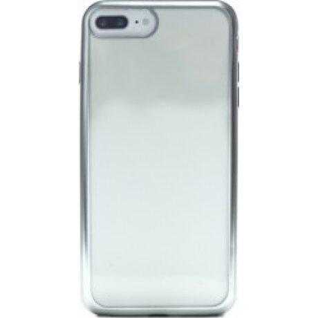 Husa Silicon iPhone 7 Plus ( Rama Argintiu )