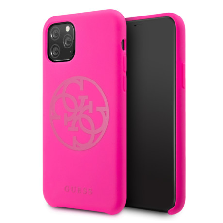 Husa silicon iPhone 11 Pro Tone on Tone Fuchsia Guess