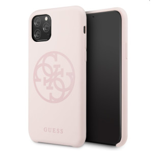 Husa silicon iPhone 11 Pro Tone on Tone Light Pink Guess