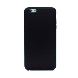 Husa silicon iPhone 6 Plus iShield Negru-Rosu