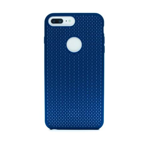 Husa silicon iPhone 6 Plus/7 Plus, Contakt Albastru-Alb
