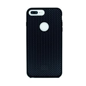 Husa silicon iPhone 6 Plus/7 Plus, Contakt Negru-Alb