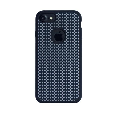 Husa silicon iPhone 6/6S/7, Contakt Negru-Alb