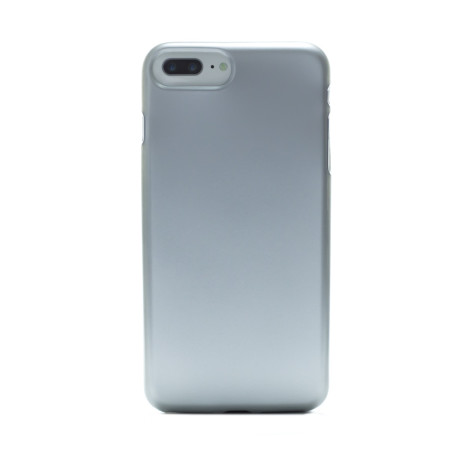 Husa silicon iPhone 7 Plus, Contakt Argintie