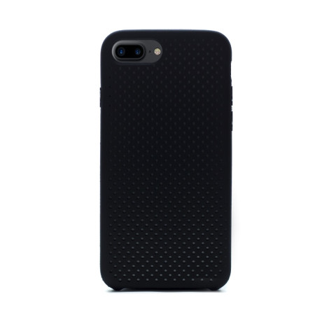 Husa silicon iPhone 7 Plus iShield Negru-Gri