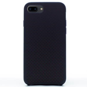 Husa silicon iPhone 7 Plus iShield Negru-Rosu