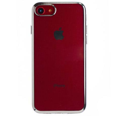Husa Silicon iPhone 7/8/SE 2 Argintiu Electroplate Rock
