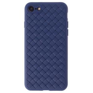 Husa Silicon iPhone 7/8/SE 2 Baseus Weaving Albastra