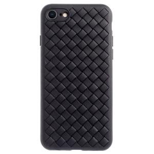 Husa Silicon iPhone 7/8/SE 2 Baseus Weaving Neagra