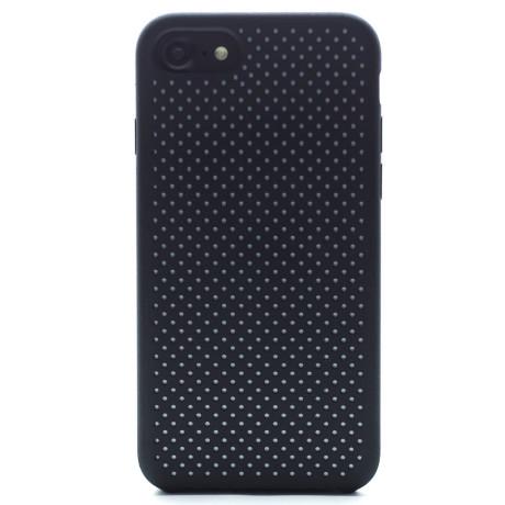 Husa silicon iPhone 7/8/SE 2 iShield Negru-Alb