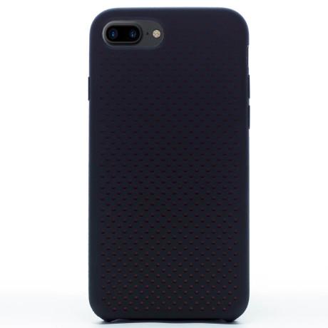 Husa silicon iPhone 8 Plus iShield Negru-Rosu