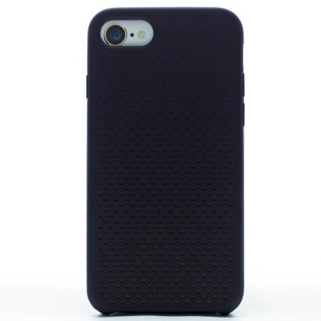 Husa silicon iPhone 8/SE 2 iShield Negru-Rosu