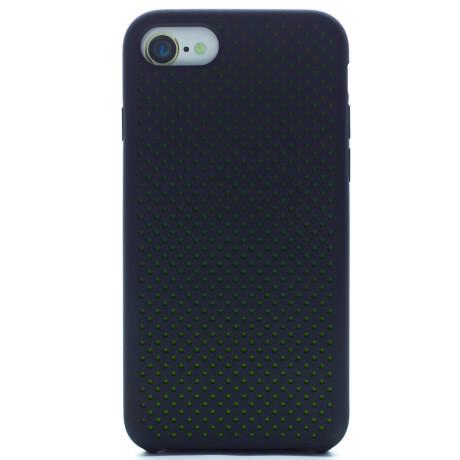 Husa silicon iPhone 8/SE 2, iShield Negru-Verde