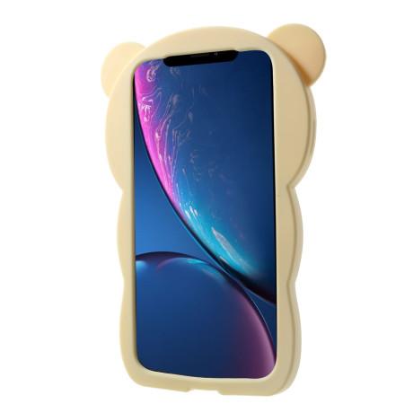Husa silicon iPhone XR 6.1'' 3D Rilakkuma Nude