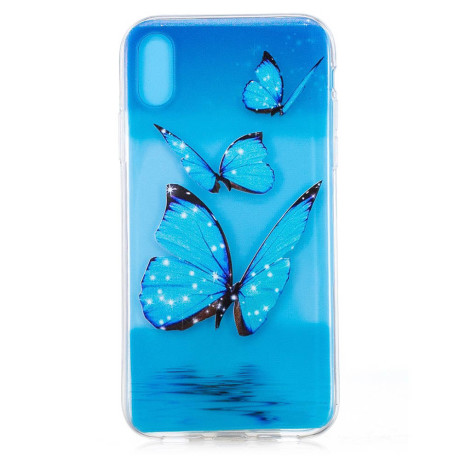Husa silicon iPhone XR 6.1'', Blue Butterfly