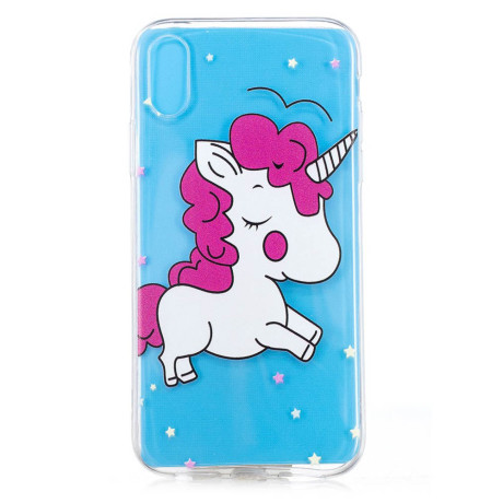 Husa silicon pentru iPhone XR Shy Unicorn