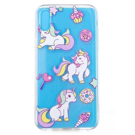Husa silicon iPhone XR 6.1'', Unicorn and Ice Cream