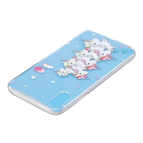 Husa silicon iPhone XR 6.1'', Unicorns and Stars