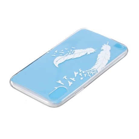 Husa Silicon iPhone XR 6.1'', White Feather and Bird