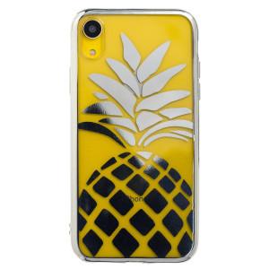 Husa Silicon iPhone XR, Argintie  Ananas