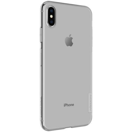 Husa silicon iPhone XS Max 6.5'', Nillkin Nature, Gri