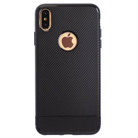 Husa Silicon iPhone XS Max, Negru Carbon