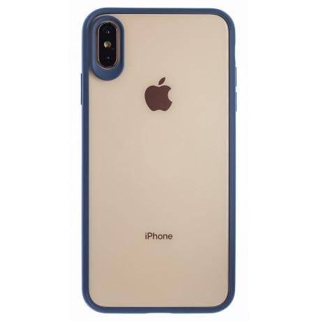 Husa silicon iPhone XS Max, Rama Albastra