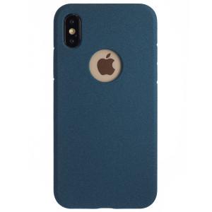 Husa Silicon iPhone X/XS, Albastru Sand