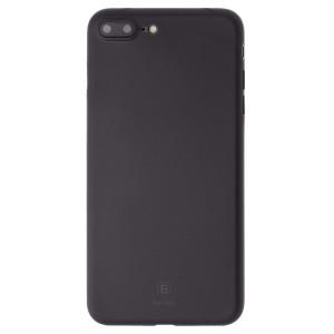 Husa Silicon iPhone7/8 Plus Stylish, Baseus, Neagra