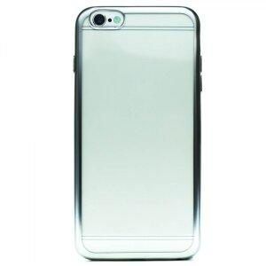 Husa Silicon pentru iPhone 6/6S Plus ( Rama Argintiu )
