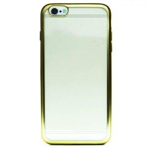 Husa Silicon pentru iPhone 6/6S Plus ( Rama Auriu )