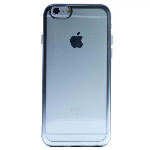 Husa Silicon pentru iPhone 6/6S ( Rama Argintiu )