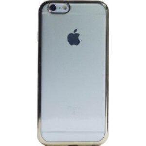 Husa Silicon pentru iPhone 6/6S ( Rama Auriu )
